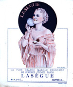 Vintage Beauty Framed Prints - Laseguela Vie Parisienne 1930s France Framed Print by The Advertising Archives