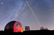 Keck Telescope Photos - Lasers Above Mauna Kea 2 by Jason Chu