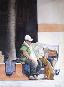 Homeless Paintings - Last Connection 2 -Street Romance by Ally Benbrook