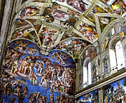 Michelangelo Framed Prints - Last Judgement - Sistine Chapel Framed Print by Jon Berghoff