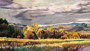 Colorado Trees Pastels Prints - Last Light Print by Anne Gifford