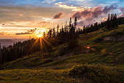 Sun Rays Photo Prints - Last Light at Cedar Print by Chad Dutson