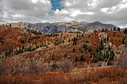 Payson Prints - Last of the Fall Colors in the Wasatch Range Print by Robert Bales