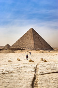 Wonders Of The World Posters - Last of the Great Pyramids in Egypt Poster by Mark E Tisdale