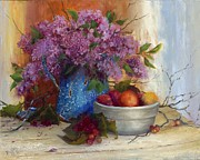 Antiques Paintings - Last Of The Liliacs by Joanne Hall