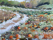 Pumpkins Paintings - Last Of The Season by Spencer Meagher