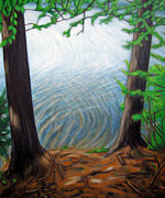 Walden Pond Painting Prints - Last One in is a Rotten Egg Print by Janel Houton