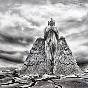 Black And White Conceptual Art - Last Prayer by Photodream Art