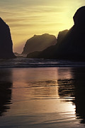 Pacific Coast Metal Prints - Last Rays Metal Print by Andrew Soundarajan