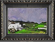 Winter Scenes Rural Scenes Framed Prints - Last Snow Lsno2 Framed Print by Pemaro