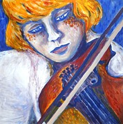 Violine Paintings - Last song for friends by Gabi Domenig