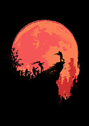 Moon Digital Art Metal Prints - Last Stand Metal Print by Budi Satria Kwan