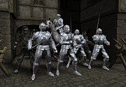 Knights Castle Digital Art - Last Stand of the Princes Bodyguard by Fairy Fantasies