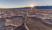 Last Sun Burst At Badwater Death Valley Print by Pierre Leclerc Photography