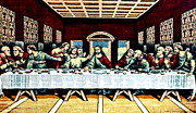 Last Supper Mixed Media Posters - Last Supper Poster by Larry Stolle