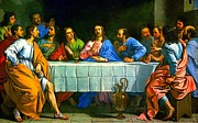 Last Supper Posters - Last Supper Religion Art Painting Poster by Andres Ramos