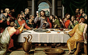 Last Supper Mixed Media Posters - Last Supper Poster by Vicente Juan Macip