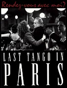 Movie Digital Art Metal Prints - Last Tango in Paris Poster Metal Print by Sanely Great