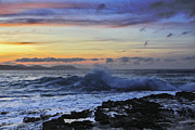 Ballycastle Photos - Last wave before sunset by Tony Reddington