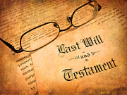 Last Will And Testament Print by Lane Erickson