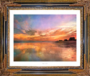 Topsail Island Posters - Lasting Moments Poster by Betsy A Cutler East Coast Barrier Islands