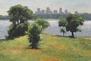 Skylines Paintings - Late Afternoon at Winfrey Point by Anna Bain