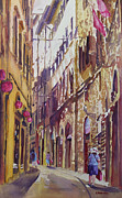 Shoppers Prints - Late Afternoon in Florence Print by Jenny Armitage