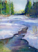 Winter-landscape Pastels - Late February Thaw by Barb Kirpluk