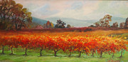 Calistoga Painting Posters - Late Harvest @ Bennett Lane Winery Poster by Deirdre Shibano