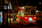 San Francisco Street Photos - Late Nite Ride by Bill Keiran