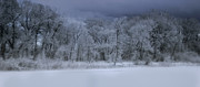 White River Scene Metal Prints - Late Snow at the Rio Grande Metal Print by Ellen Lacey