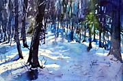 Spencer Meagher Metal Prints - Late Snow Near Springer Mountain Metal Print by Spencer Meagher