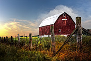 Old Barns Prints - Late Summer Print by Debra and Dave Vanderlaan