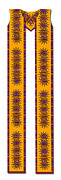 Featured Tapestries - Textiles Originals - Latin American Cotton Clergy Stole by Julie Rodriguez Jones