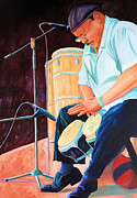 Performance Paintings - Latin Jazz Musician by Todd Bandy