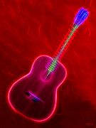 Music Lovers - Latin Neon Guitar by Hanza Turgul