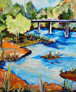 Suzanne Willis Metal Prints - Laton Bridge Metal Print by Suzanne Willis