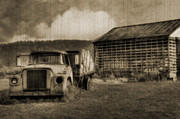 Dilapidated Digital Art - Latsha Lumber Company by Shelley Neff