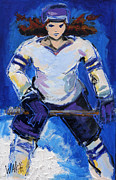 Hockey Painting Posters - Lattaquante Poster by Marie Walsh