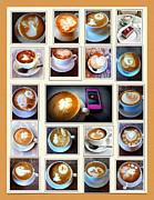 Latte Art Collage Print by Susan Garren