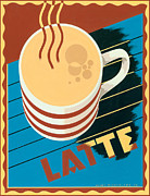 Vintage Coffee Posters - Latte Poster by Brian James