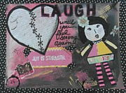 Paper Dolls Posters - Laugh Poster by Debbie Hornsby