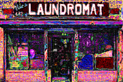 Businesses Digital Art Prints - Laundromat 20130731 Print by Wingsdomain Art and Photography