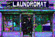 Washing Machine Digital Art Posters - Laundromat 20130731m108 Poster by Wingsdomain Art and Photography