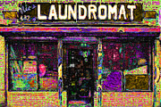Washing Machine Digital Art Posters - Laundromat 20130731p45 Poster by Wingsdomain Art and Photography
