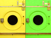 Mundane Digital Art Prints - Laundromat Drying Machines Two 20130801a Print by Wingsdomain Art and Photography