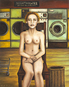 Nipples Framed Prints - Laundry Day 5 Framed Print by Leah Saulnier The Painting Maniac