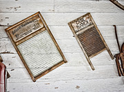 Old Washboards Metal Prints - Laundry Day Metal Print by Heather Applegate