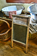 Old Washboards Photo Metal Prints - Laundry Day Metal Print by Paul Ward