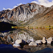 Posse Posters - Laural Mountain Convict Lake California Poster by Nadine and Bob Johnston
